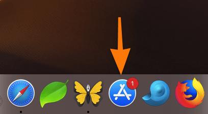 Панель Dock с иконкой Mac App Store
