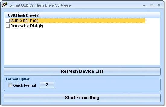 Format USB Or Flash Drive Software для форматирования дисков и флешек