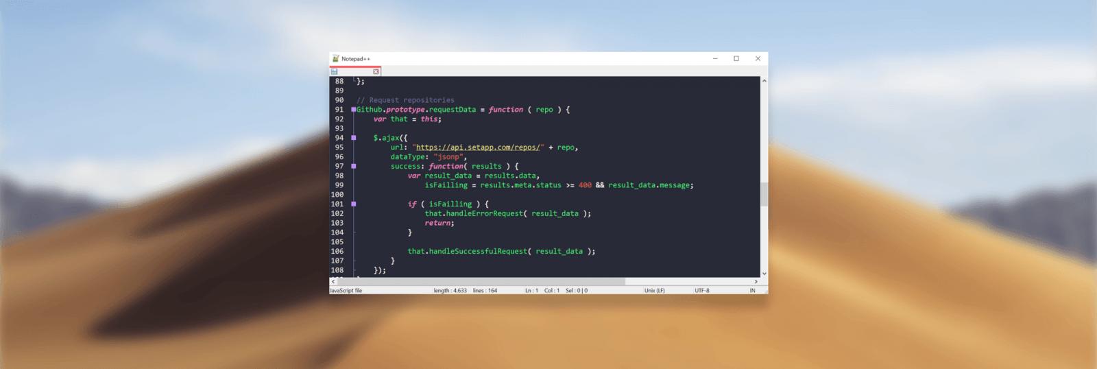 Notepad ++ для macOS