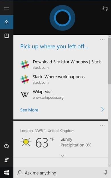 Голосовой помощник Cortana Windows 10