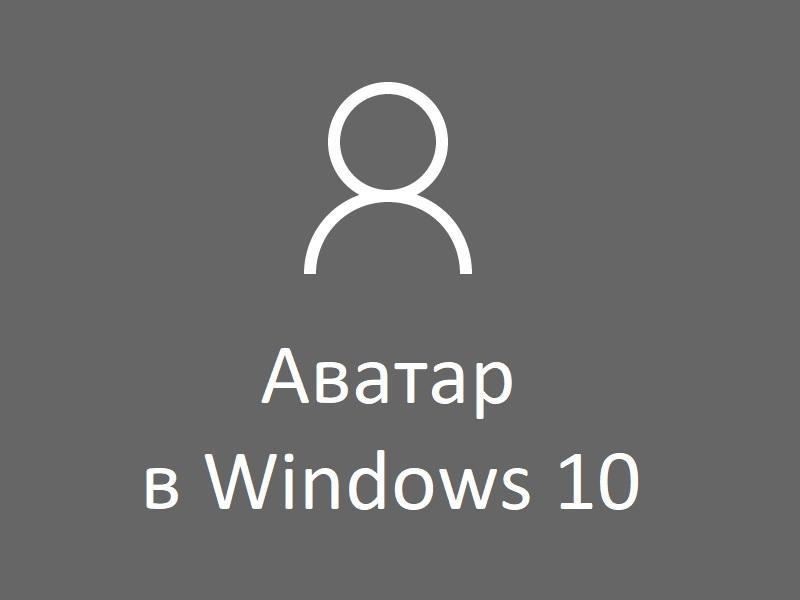 Аватар в Windows 10: как изменить, удалить