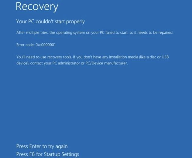 Восстановление загрузчика в Windows 10