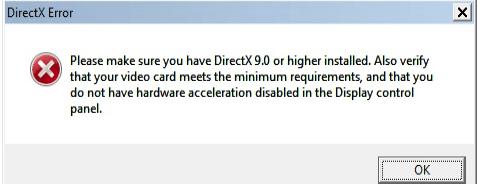 Direct X уже установлен