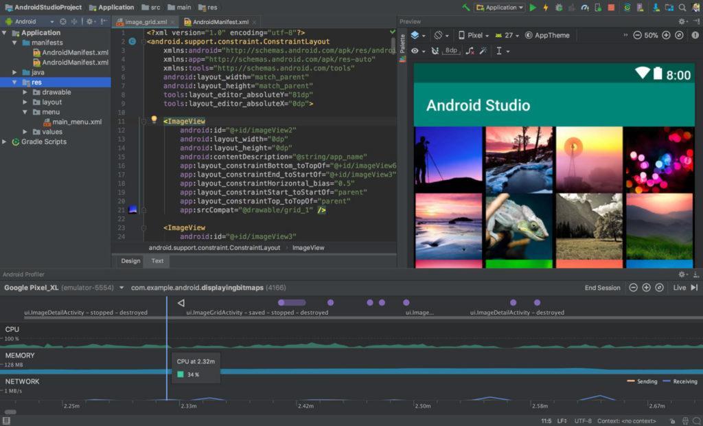 Главное окно Android Studio