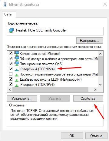 ip версии 4 свойства
