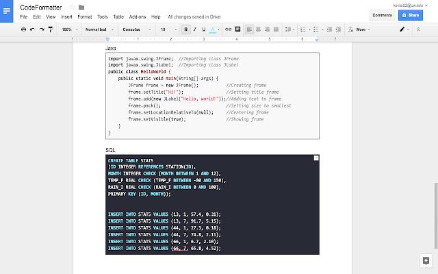 CodeFormatter