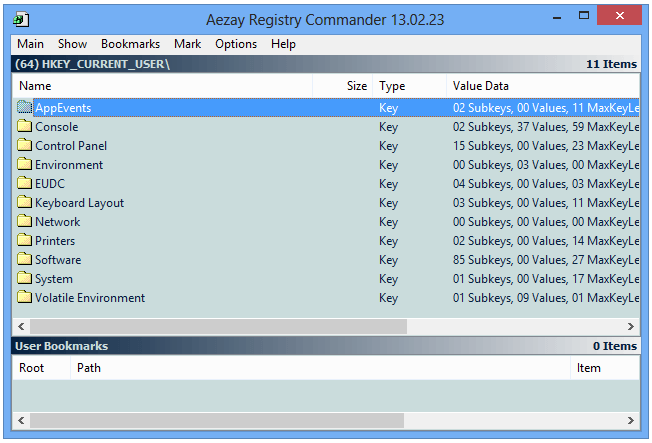 Registry Commander редактор