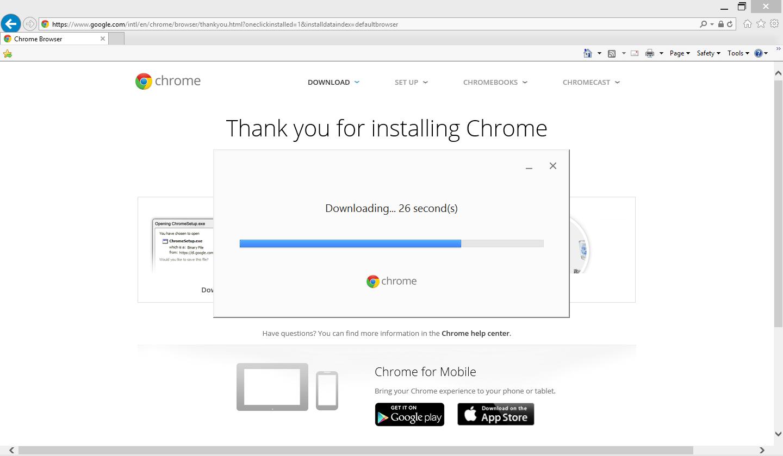 как установить google chrome
