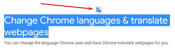 Перевод расширение  Google Chrome