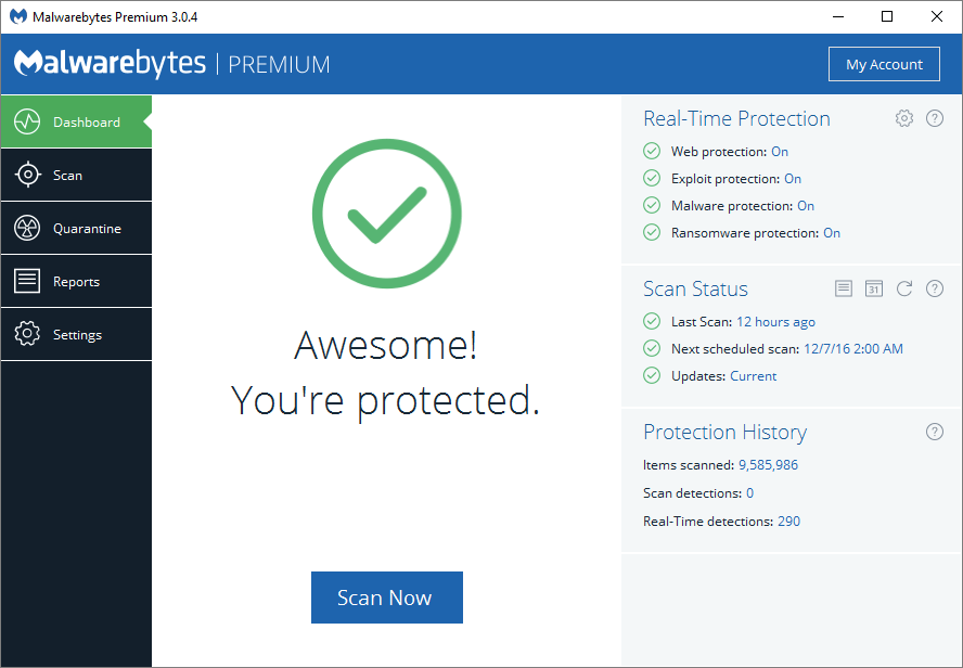 Malwarebyres free/AdwCleaner