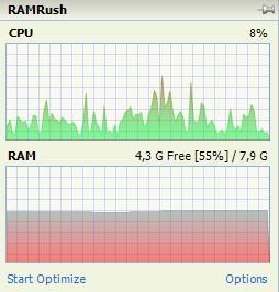 RAM Rush интерфейс