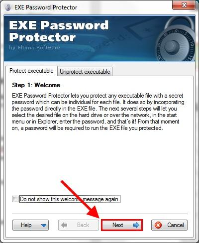 установка EXE PasswordProtector