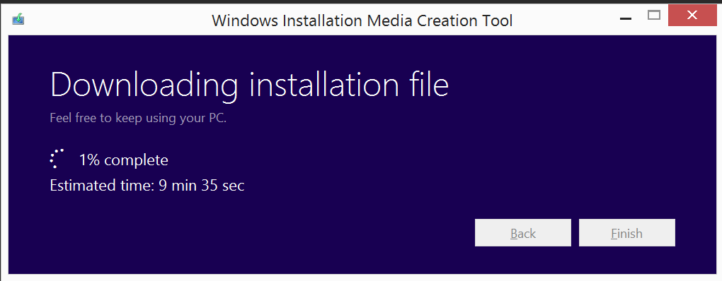downloading installation file