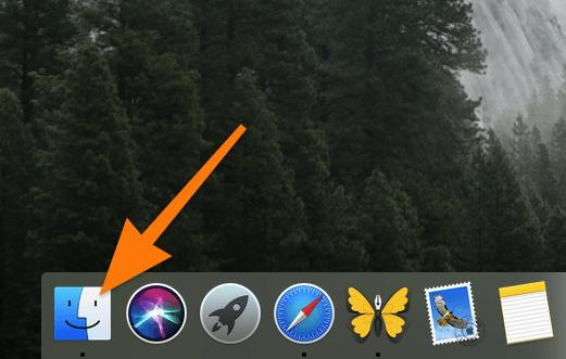 Панель избранных программ и иконка Finder