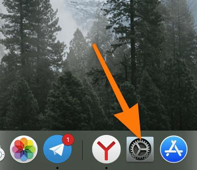 Панель избранных программ (Dock) в macOS