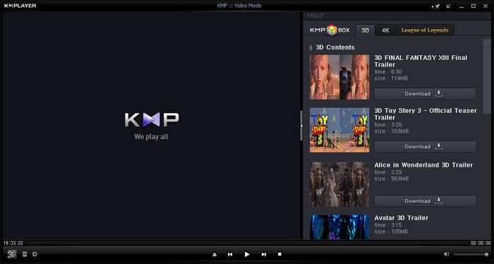 KMP Player для Windows 10