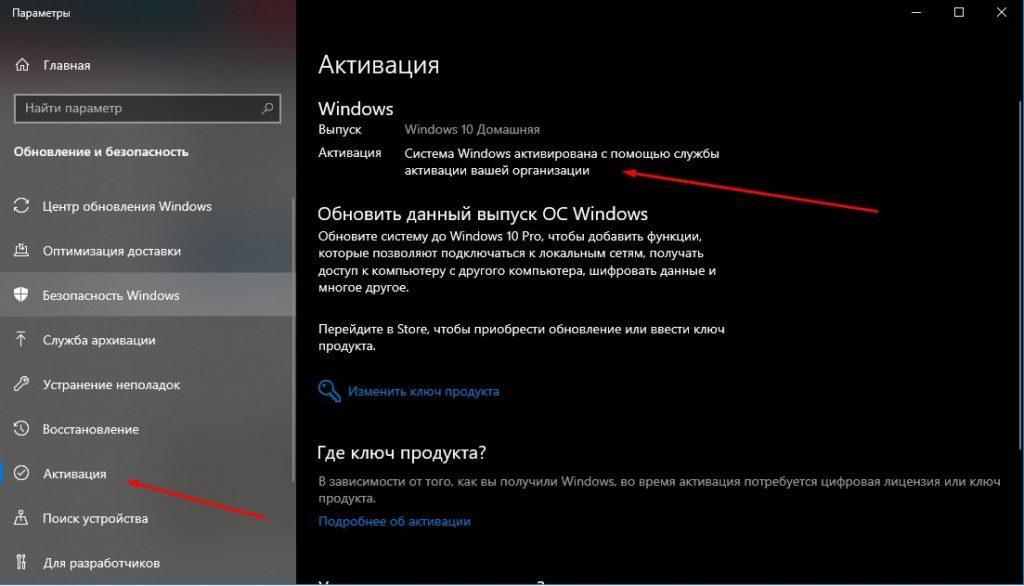 Windows активирована