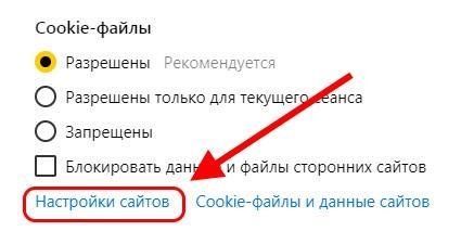 Как настроить куки в Яндекс браузере