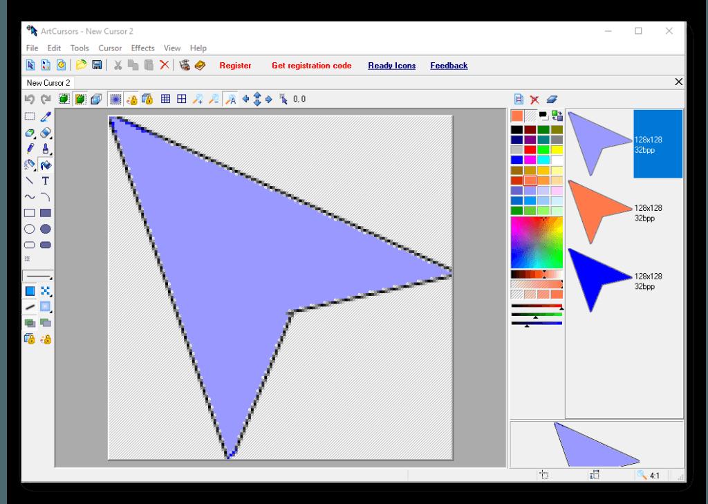 ArtCursors программа для создания курсора