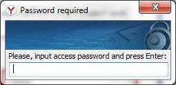 password required yandex