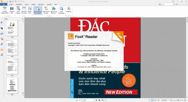 Интерфейс программы Foxit Reader