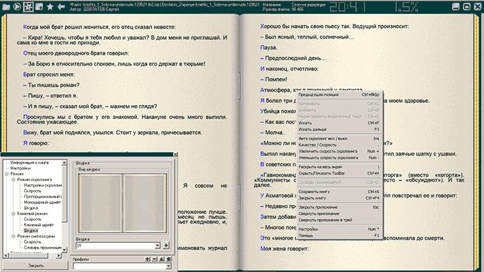 Интерфейс программы ICE Book Reader Professional