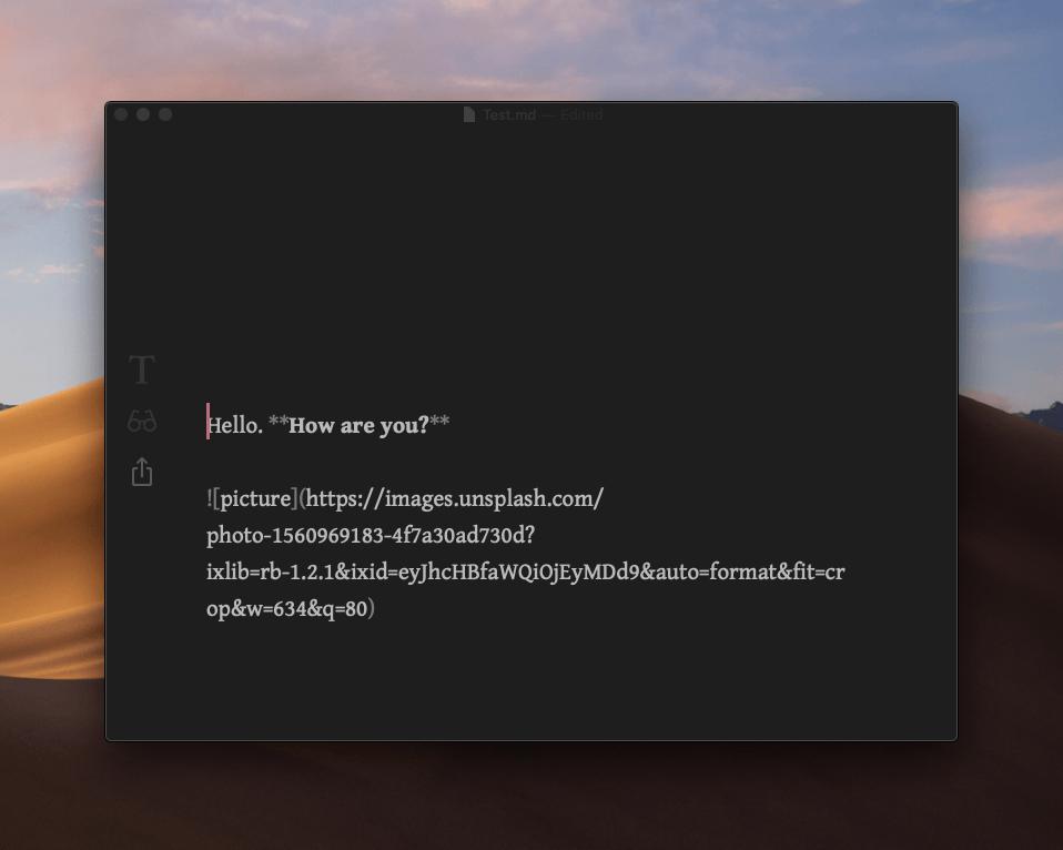 Интерфейс редактора в Focused