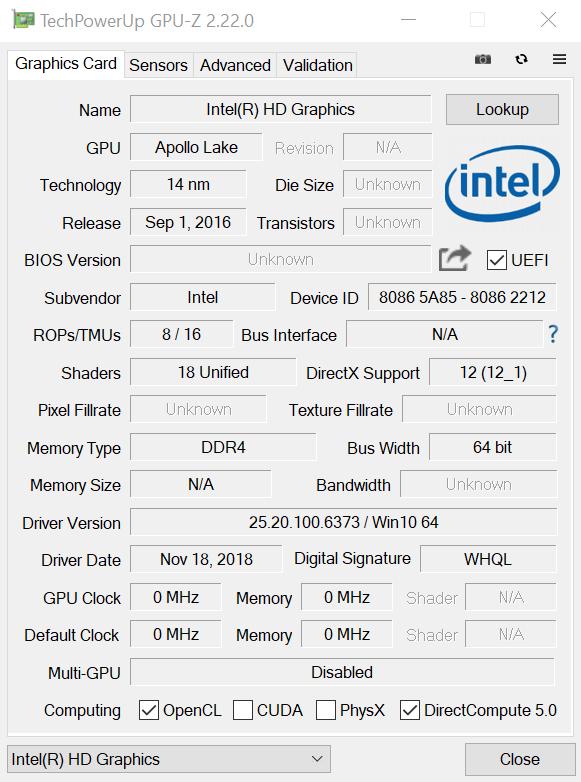GPU-Z на Windows 10
