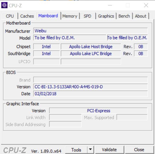 Сведения о материнской плате в CPU-Z