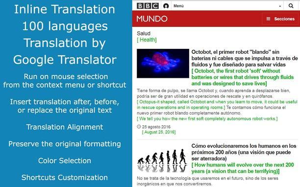 Расширение Google Translate в Opera