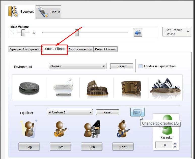 звуковой эффект в Windows 10