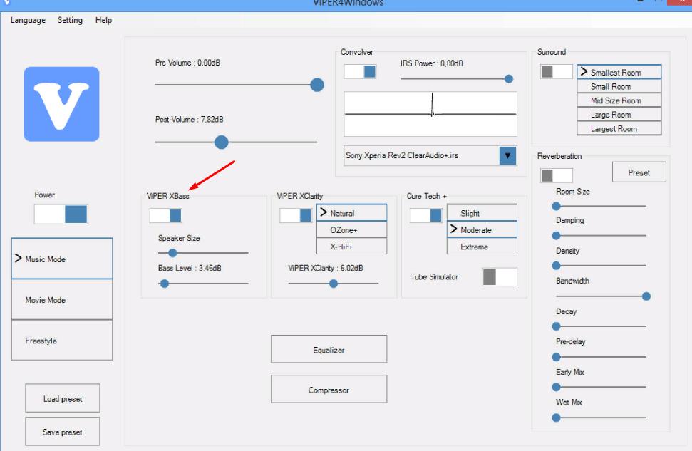 Viper4Windows интерфейс