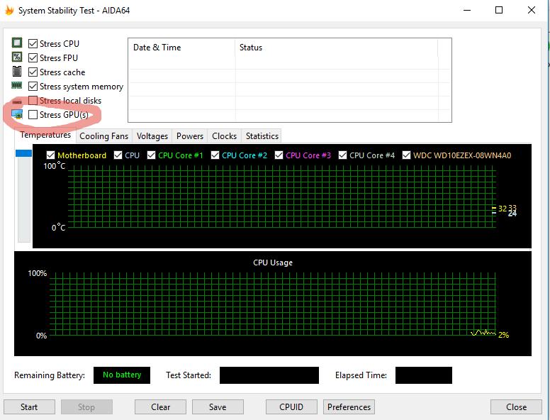 Стресс-тест видеокарты в AIDA64