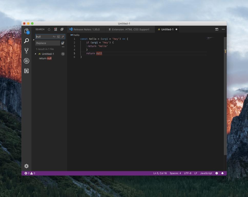 JavaScript-редактор в VS Code