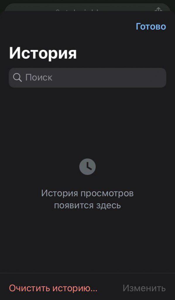 Чистая история Google Chrome