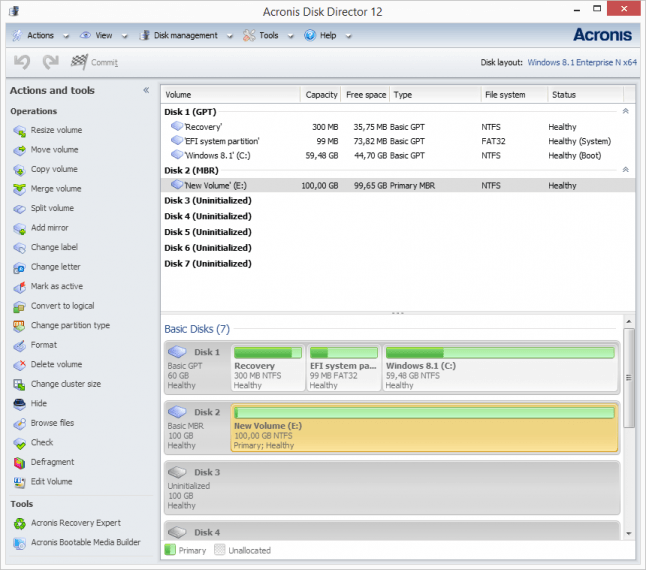 Acronic Disk Director