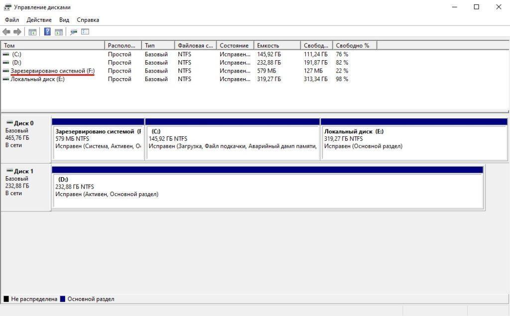 Как скрыть «диск зарезервирован системой» в Windows 10