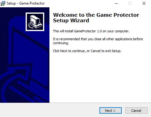 Окно начала установки программы в Windows 10