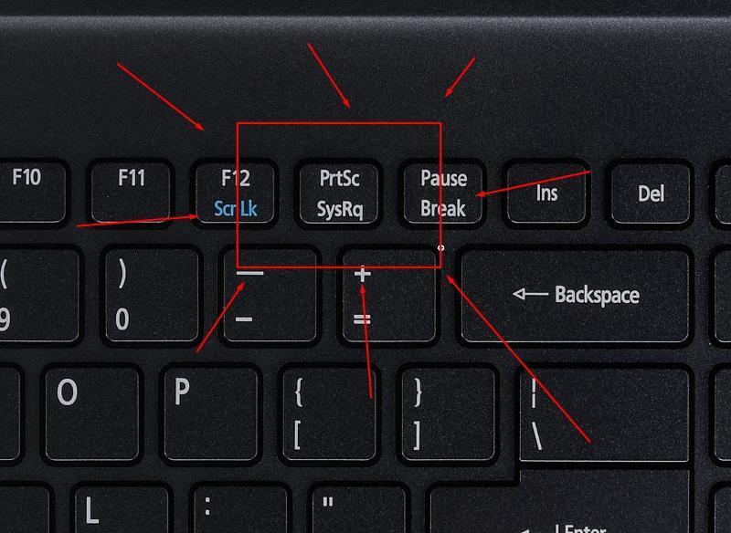 Клавиша PrtScn на клавиатуре
