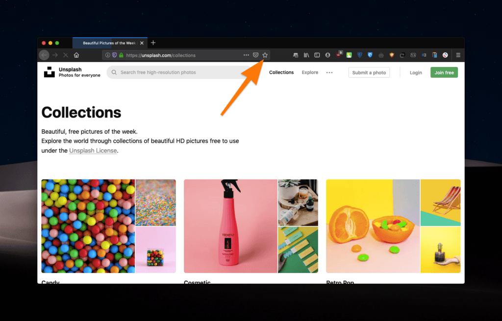 Интерфейс браузера Firefox