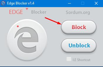 Приложение Edge Blocker для блокировки системного браузера
