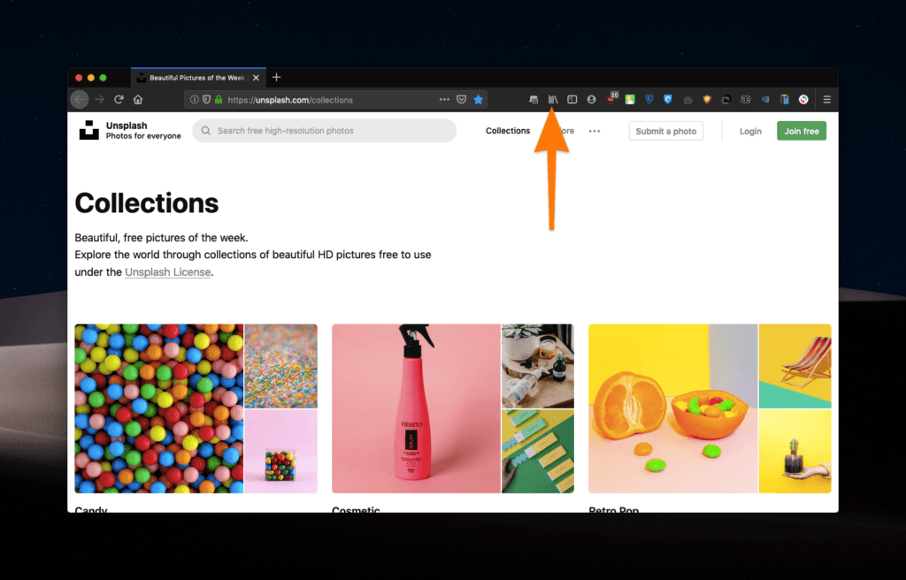 Интерфейс Firefox
