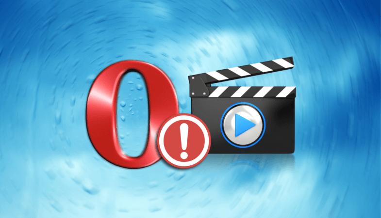 Проблемы с видео браузер Opera