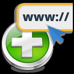 Иконка добавить сайт, URL