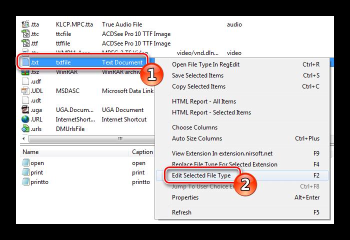 Edit Selected File Type