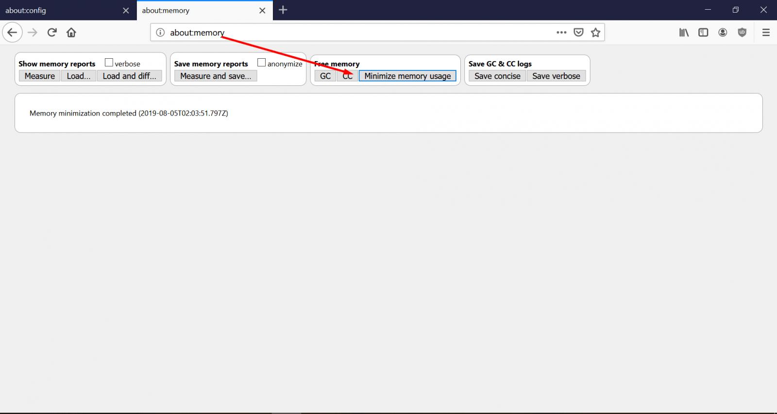 Минимизация использования оперативной памяти в Firefox