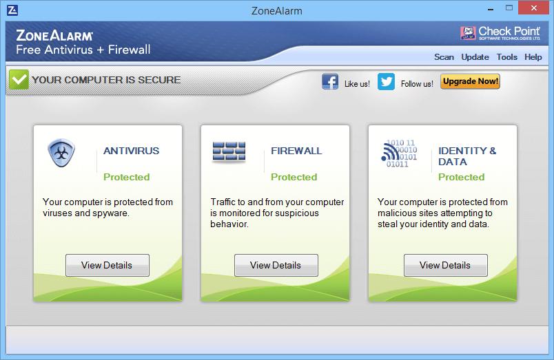антивирус ZoneAlarm Free Antivirus