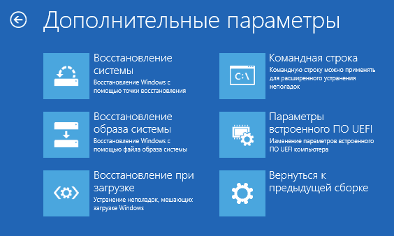 Дополнительные параметры, доступные во время установки операционной системы Windows 10