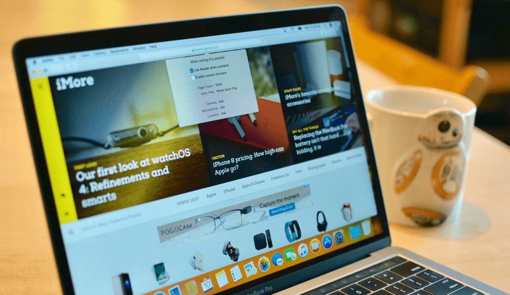 Узнать версию в браузере Safari