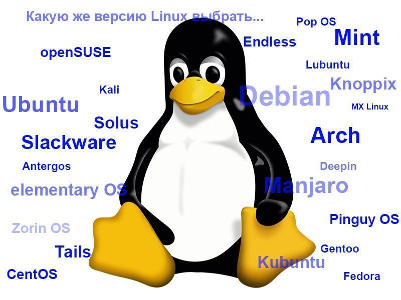 Выбираем дистрибутив Linux